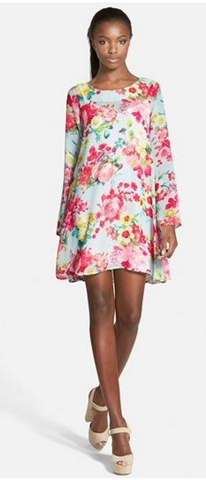Tildon Floral Print Swing dress