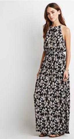 floral maxi dress_ F21