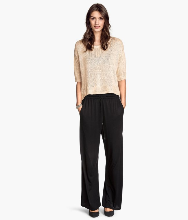 hm-wide-leg-jersey pants
